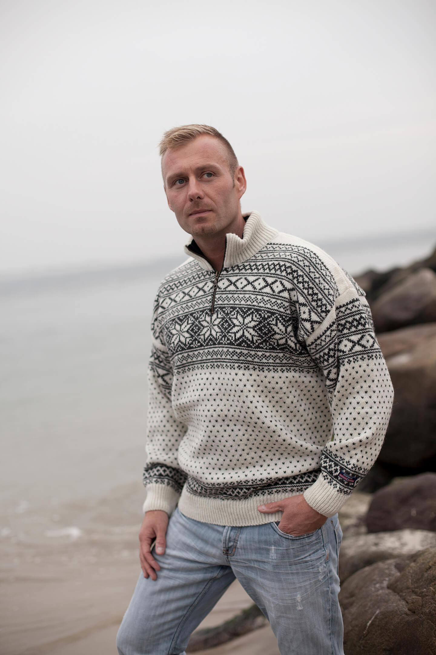 Original norsk tröja i Setedal design av ren ull från Norwool